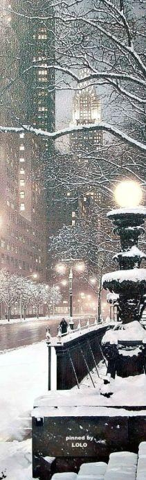 City snowfall.