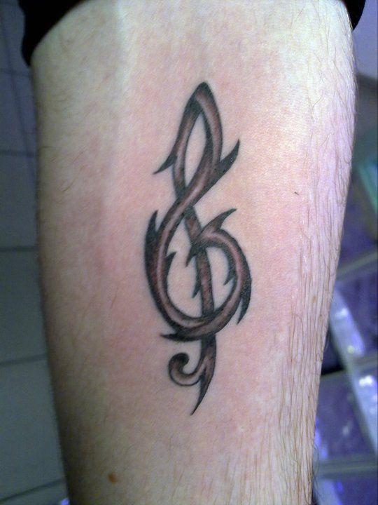 tattoo tatouage clef de sol