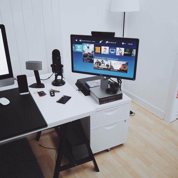 515 Best Desk Set Up Images On Pinterest Computers