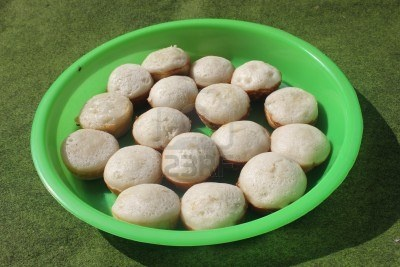 Indonesian traditional cake called as apem.