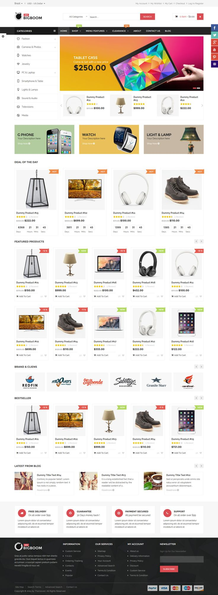 339 best magento themes templates images on pinterest role bigboom multistore responsive magento themes toneelgroepblik Image collections