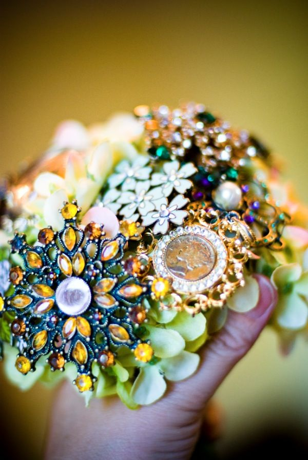 @Karyle Frazier. You might find this useful... Brooch bouquet tutorial