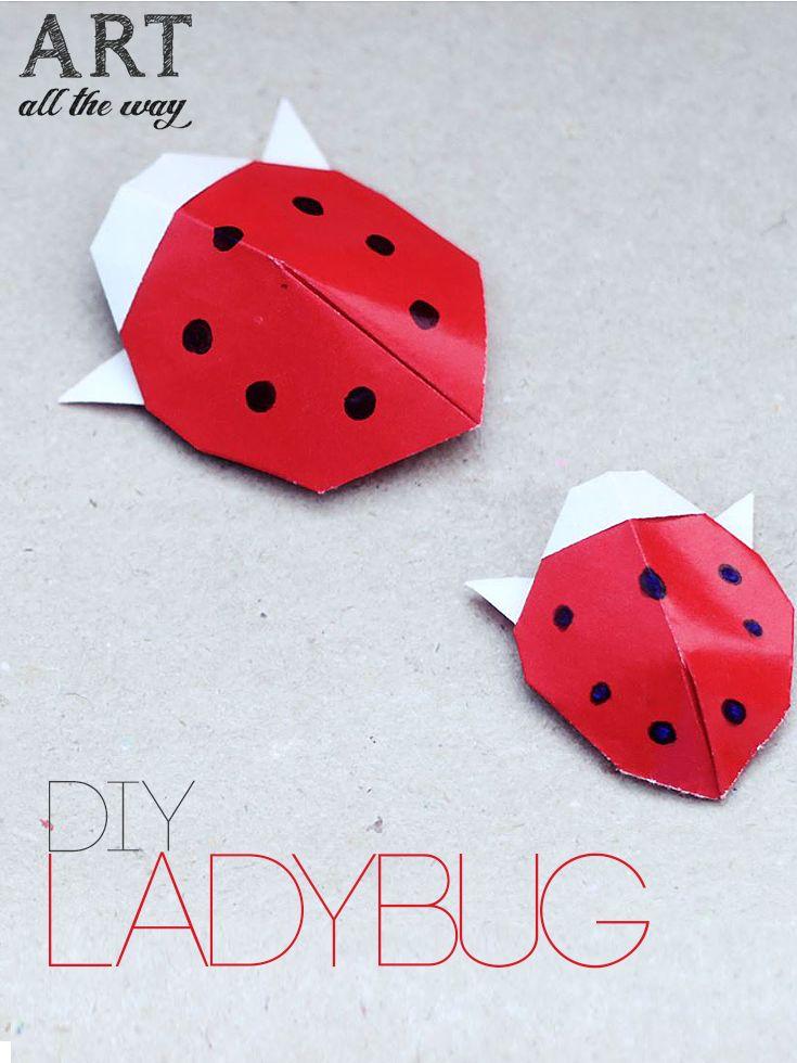 DIY : Origami Ladybug   https://goo.gl/8fhlq0