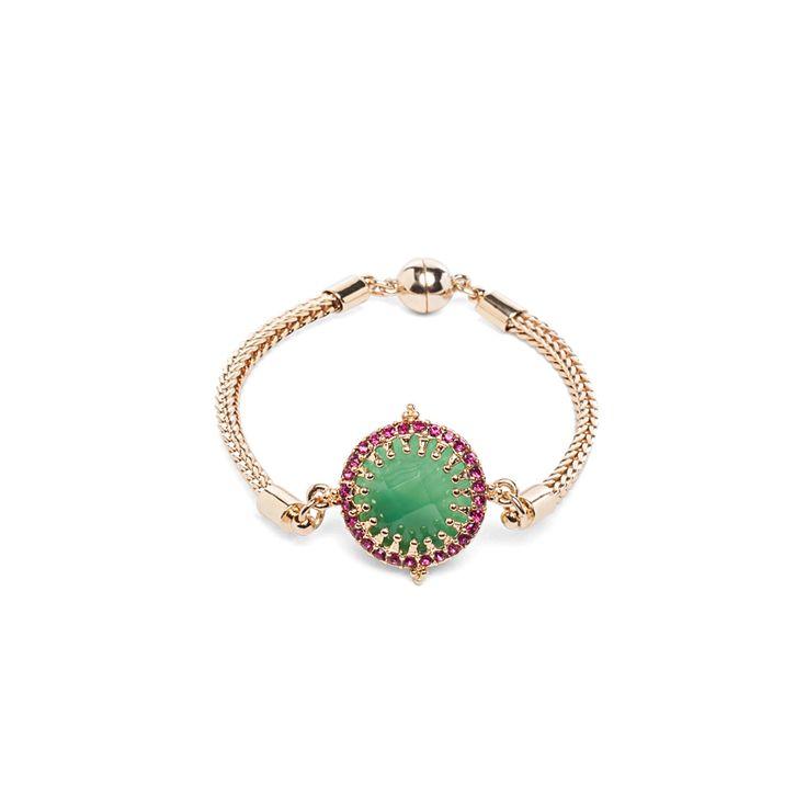 I love the Lydell NYC Embellished Stone Bracelet from LittleBlackBag: Stones Bracelets, Galleries, Green Stones, Nyc Embellishments, Lydel Nyc, Embellishments Stones, Littleblackbag, I'M, Products