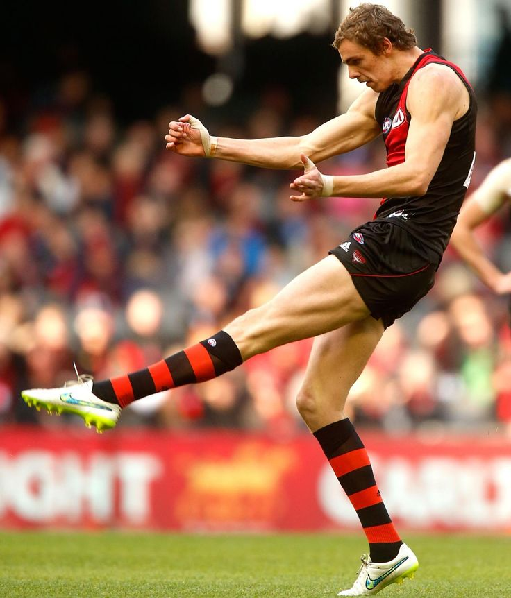 Daniher lining up for one of his six goals against the Lions. #DonTheSash