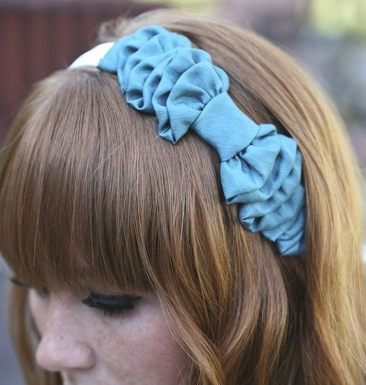 WANT this for my new job Turquoise Bow Headband for women by BeSomethingNew on Etsy, $30.00