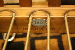 Metal Dux tag on Pair of Mid Century Scissor Chairs by Folke Ohlsson
