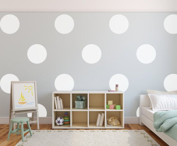 Vinyl Wall Sticker Decal Art   Big Polka Dots