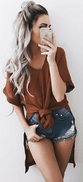 #summer #trending #outfits |  Vacation Style + Coffee + Denim