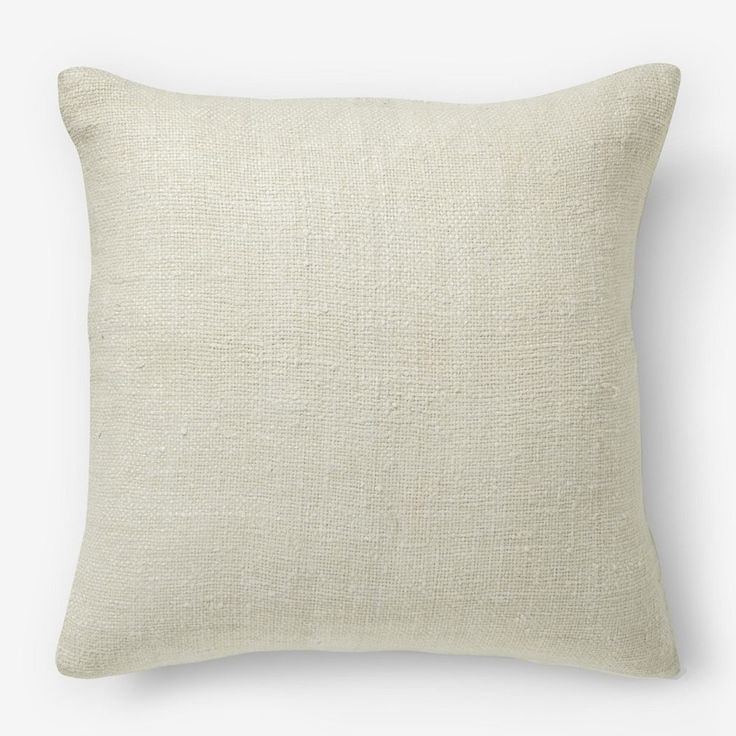 Silk Hand-Loomed Cushion Cover - Stone White   west elm AU