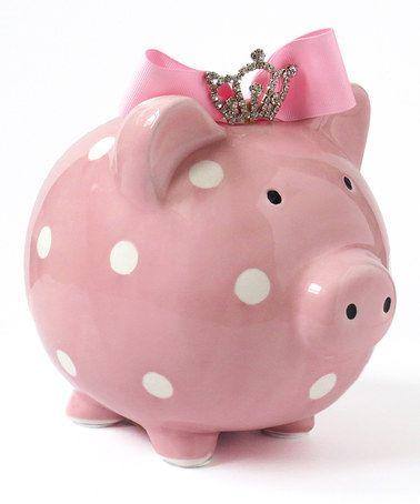 Another great find on #zulily! Pink Princess Piggy Bank #zulilyfinds