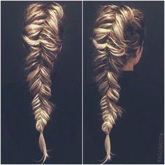 dutch fishtail braid...