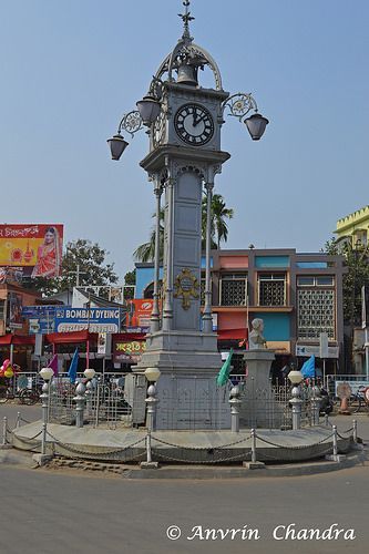 Famous Clock Tower at Ghorir More   by Indya Unrevealed ( A Lonely Traveller)