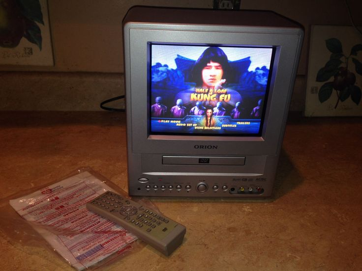 """Orion 9"""" CRT TV DVD Combo Color Television Portable TVDVD092 Remote Manual Clean #Orion"""
