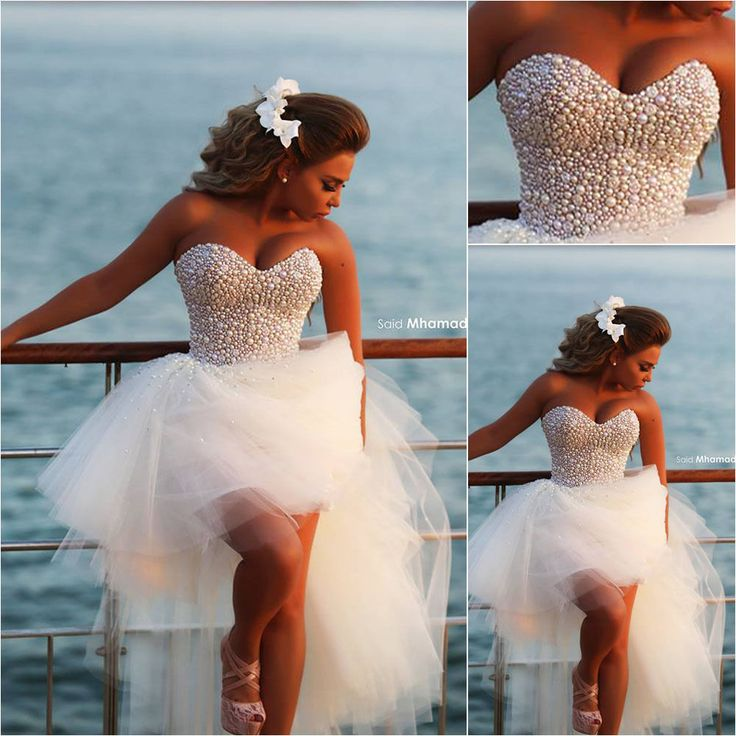 Sexy High Low Wedding Dresses with Full Pearls New Tulle Beach Wedding Dress53 best LN Wedding Dress images on Pinterest   Wedding dressses  . Ebay Cheap Wedding Dresses. Home Design Ideas