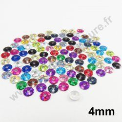 Sequin thermocollant rond - MULTICOLORE HOLOGRAMME - 4mm - x 150
