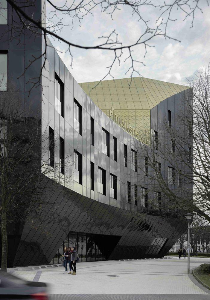 Dirigido por Aitor Gurtubay, Asier Atxurra y Unai Zelaieta, el estudio de Bilbao GAZ Arkitektoak es el autor de la nueva sede delCentro Superior de Música del País Vasco (Musikene) en San Sebastián. Situada en la plaza de Europa, cerca del...