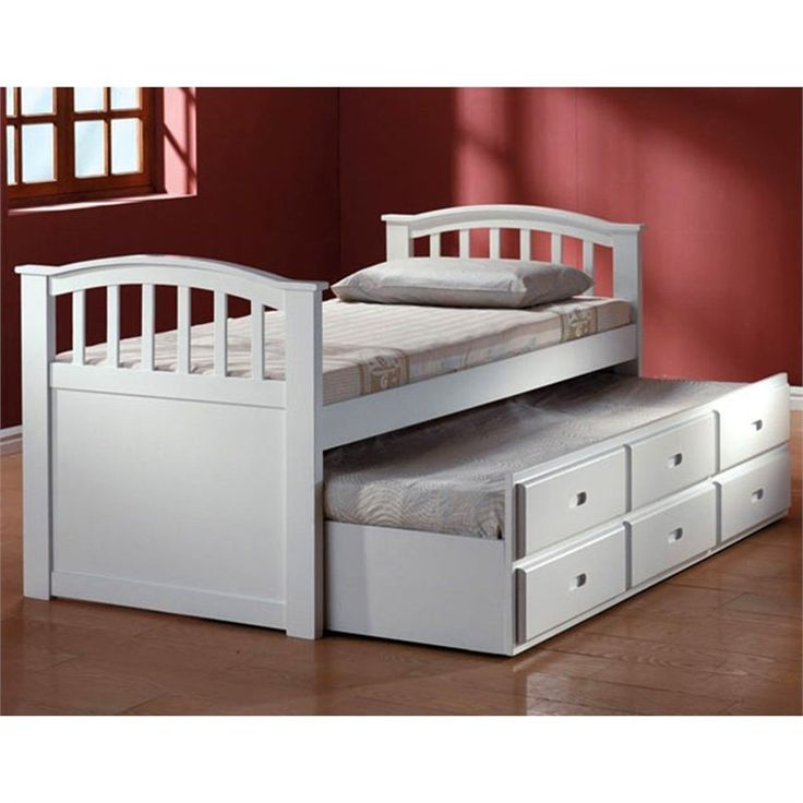 ACME Furniture San Marino Trundle Bed In White