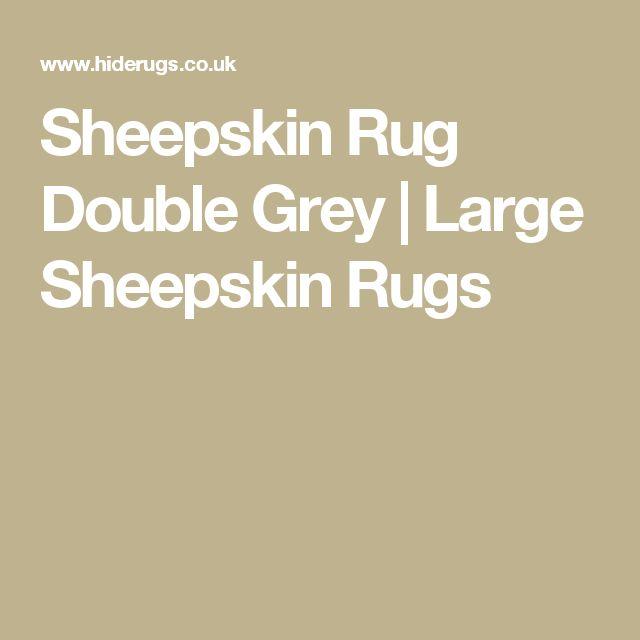 Sheepskin Rug Double Grey | Large Sheepskin Rugs