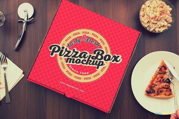15 Yummy Pizza Box Mockups By Zippypixels On At Creativemarket