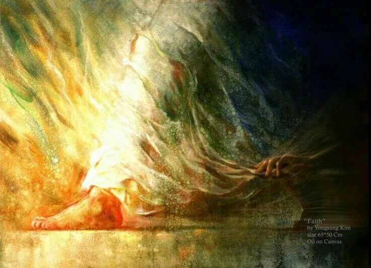 She touched the hem of His garment.