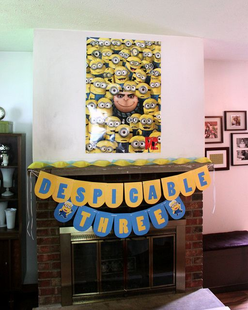 """Despicable Me"" birthday party decorations by {mandyford}, via Flickr"
