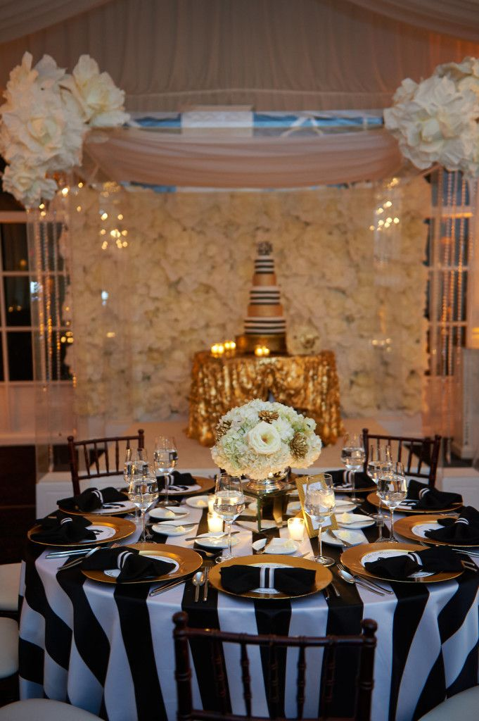 Black And Gold Wedding At The Piedmont Estate Planning By TOAST Events Decor Legendary