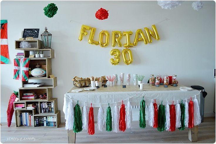 Aujourd'hui je vous parle de l'anniversaire surprise que j'ai organisé pour les 30 ans de mon mari.