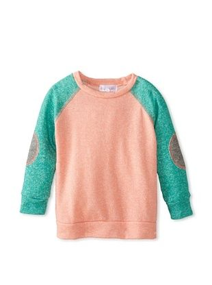 67% OFF Tilly & Jax Boy's Camden Sweatshirt with Elbow Patches (Coral/Emerald)
