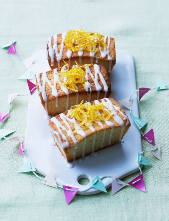 Try this fresh take on lemon drizzle - Jo Wheatley's mini lemon and coconut cakes are great to serve up at tea time.
