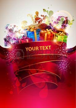 Vánoční abstraktní plakát photo