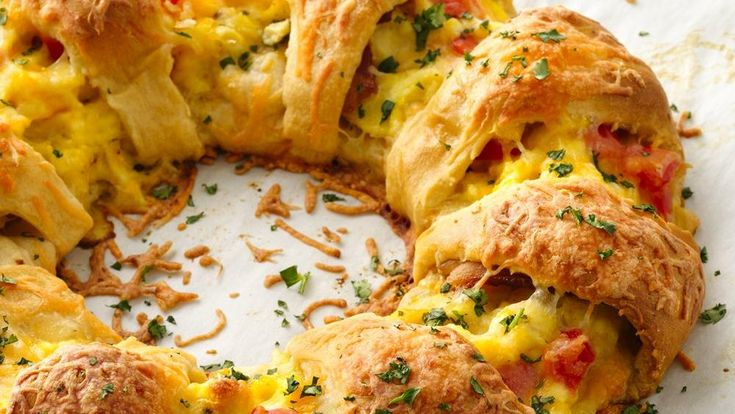 Flaky Pillsbury® dough is the base for this brunch that looks fabulous, but is as easy as can be! To make it even easier, check out our step-by-step photos and tips.