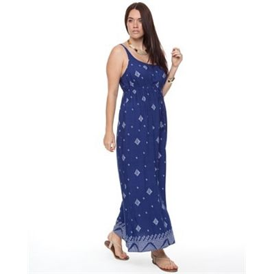 Love Your Wardrobe Boarder Print Dress Dresses Available in Indigo Mosaic Border Print - Fashion Brand Sale
