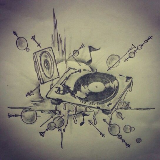Dj Mural Sketch By Ranz Tattoo Art Sketches All Pieces And