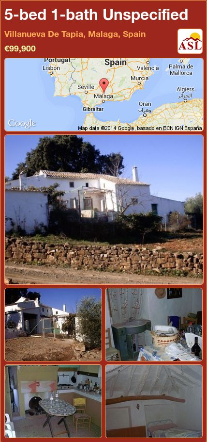5-bed 1-bath Unspecified in Villanueva De Tapia, Malaga, Spain ►€99,900 #PropertyForSaleInSpain