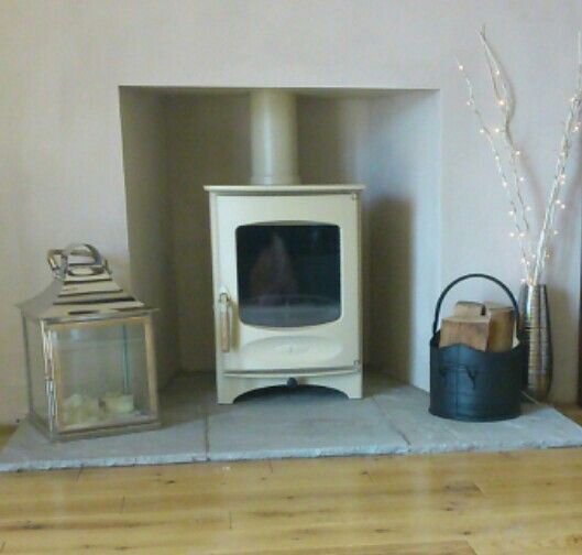 Our new cream log burner / stove