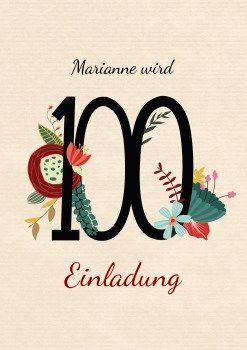 Blumenzahl 100 Einladung#Blumenzahl#Blütenzahl#100 #zeitlos  #für_jede_Gelegenheit #klassischeEinladungen #