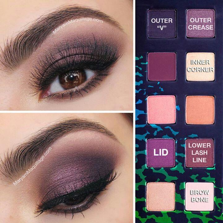 Pretty in Purple Smokey Eye Makeup