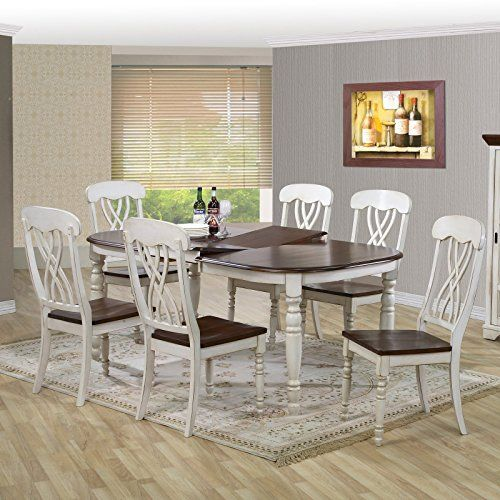 New Newman Chic Country Cottage 7 Piece Extendable Oval Dining Table Set Kitchen Renovation Pinterest Tables Kitchens And Storage