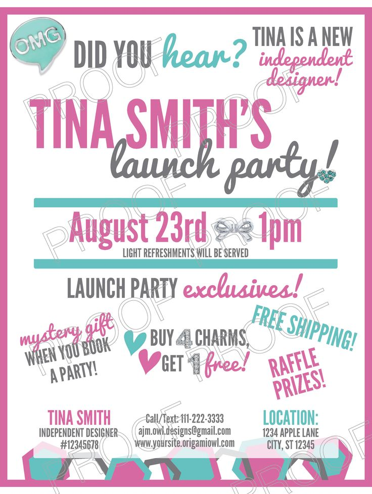 too much chaos - Launch Party Invitation