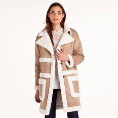 Manteau peau lainée femme 3 Suisses Collection