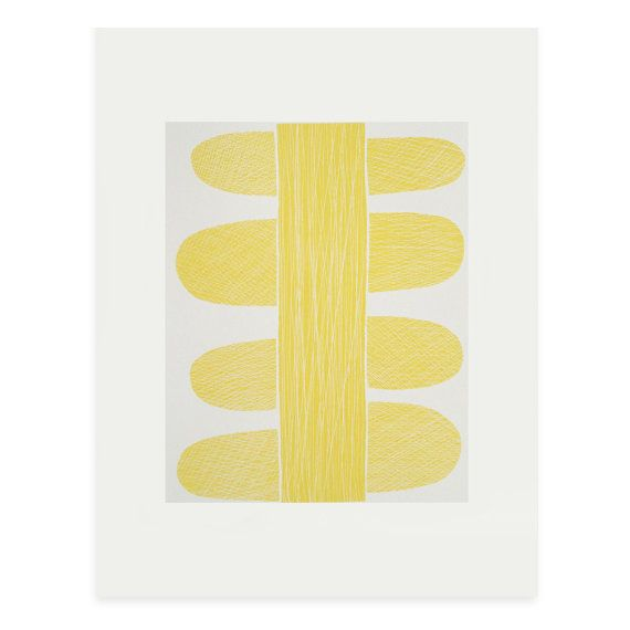 Yellow Stem a fifties and nature inspired by littleprintpress, £45.00 Emma Lawrenson