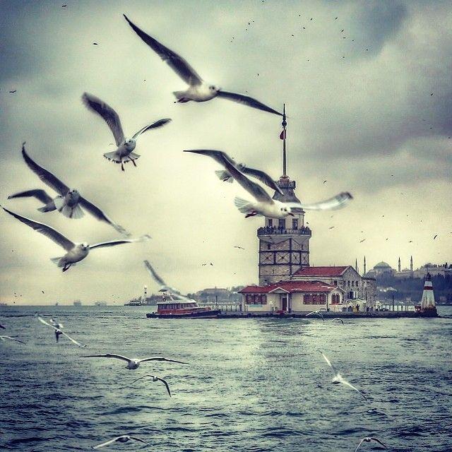 MAIDEN'S TOWER / Kiz Kulesi. Istanbul, Turkey. emrkrm @emrkrm Instagram photos Thank you to Ugur Soyata for sharing this wonderful photo. www.armadaistanbul.com