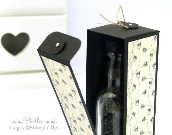 Stampin' Up! Demonstrator Pootles - Hinged Floral Bottle Box Tutorial using Stampin' Up! DSP Open