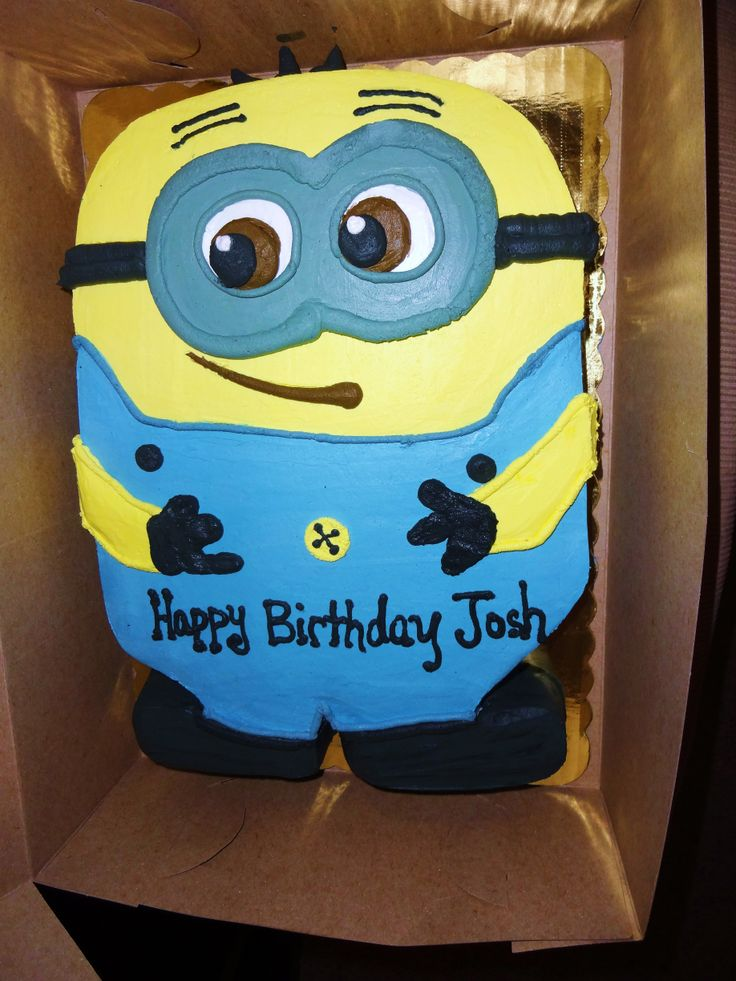 Despicable me - Minion Cake Whipped Icing - no fondant - Erin Miller