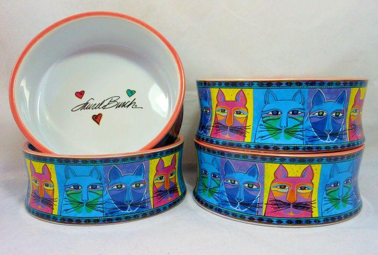 Three of my favorites: Laurel Burch, kitties and blue!