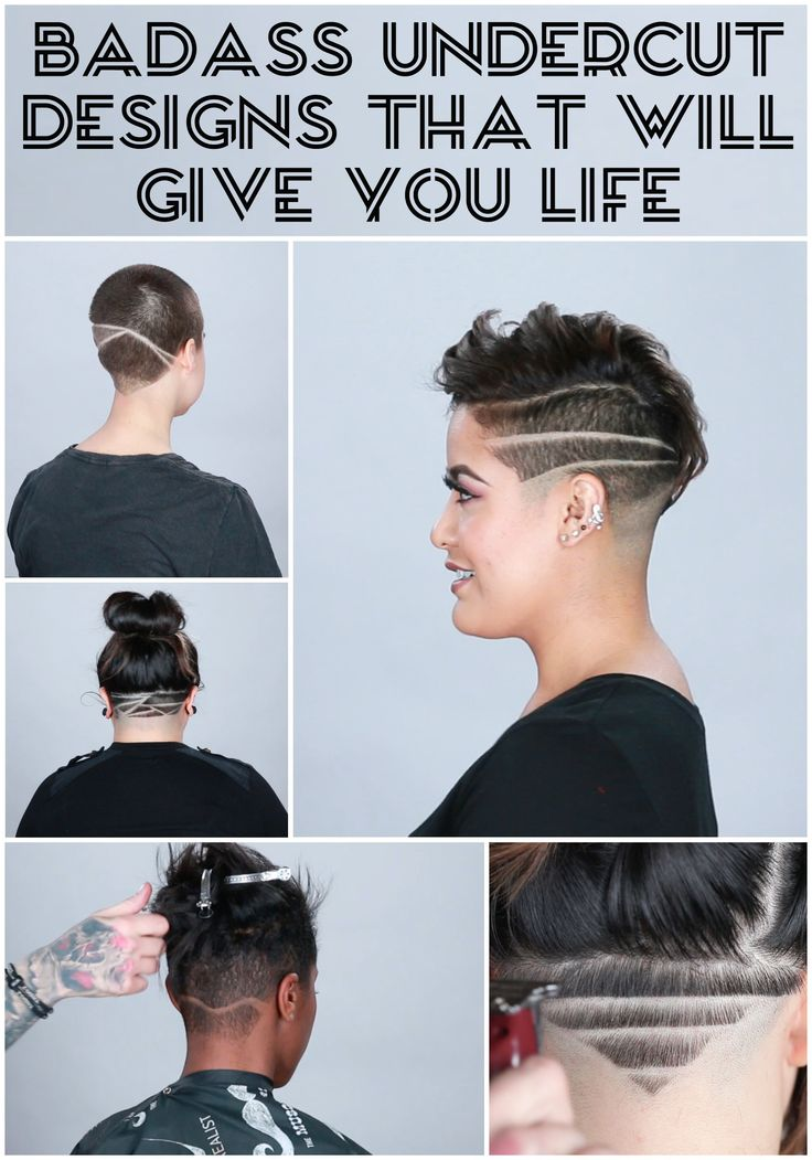 Cool necks! Younger chick's! Undercut Designs That Will Give You Life #undercuts