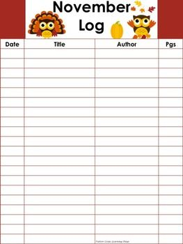 Monthly Thematic Reading Logs - 20 Lines: A new reading log for each month, all featuring clip art related to events from that month! Bind together to make a reading log book! An easy way to keep track of their million words!!