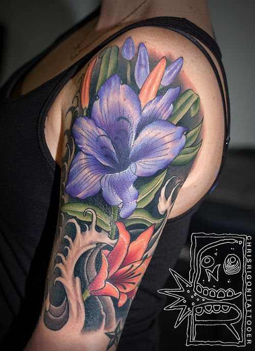 31 best images about purple flower tattoo designs on pinterest vine tattoos tattoo stencils. Black Bedroom Furniture Sets. Home Design Ideas