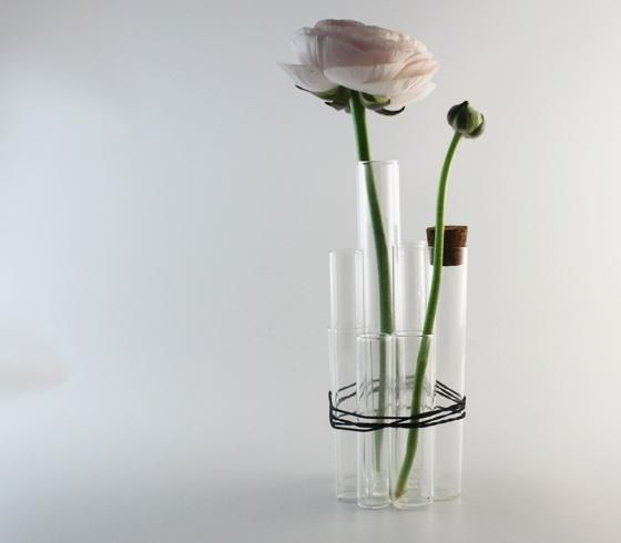 Reagenzglas vase DIY in danish